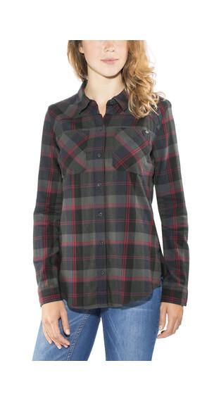 Fox Flown Flannel Shirt Women Midnight